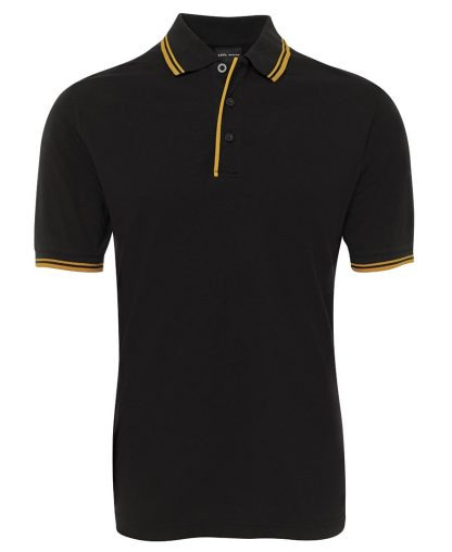Contrast Polo - Black/Gold