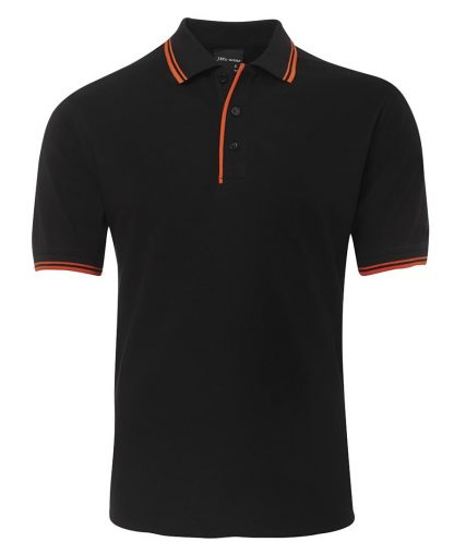 Contrast Polo - Black/Orange