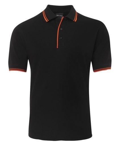 Contrast Polo - Black/Orange