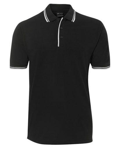 Contrast Polo - Black/White