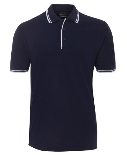Contrast Polo - Navy/White