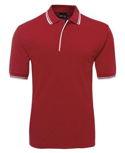 Contrast Polo - Red/White