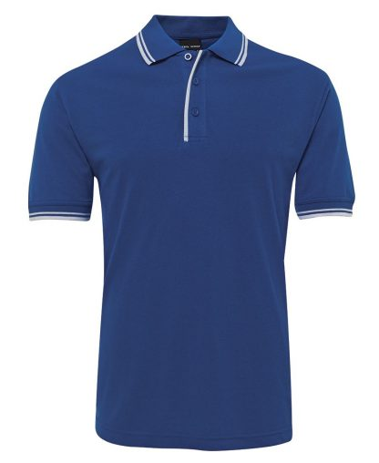 Contrast Polo - Royal/White