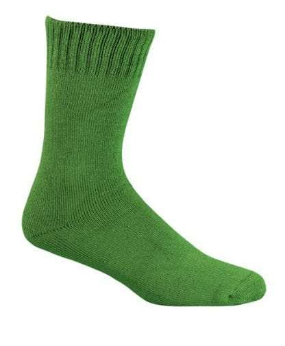 Bamboo Extra Thick Work Socks-Size 4-18 -Green