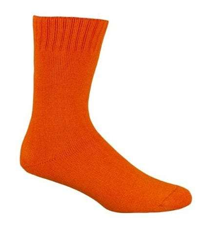 Bamboo Extra Thick Work Socks-Size 4-18 -HI VIS ORANGE