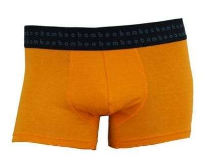 Orange Mens Bamboo Trunks