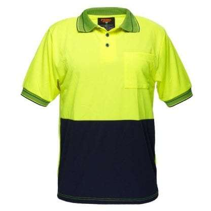 Light Weight Polo to 9XL - Yellow/Navy