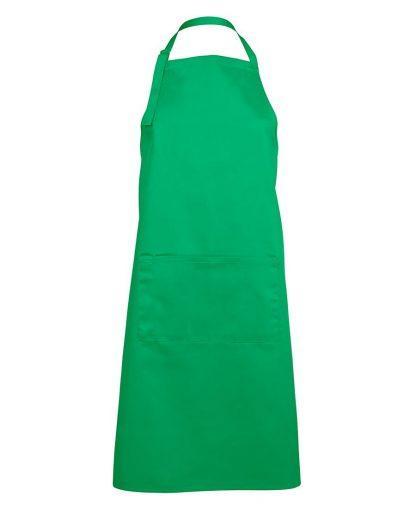 Bib Apron With Pocket - Pea Green