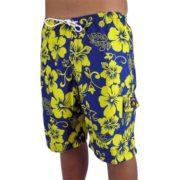 Big Island Shorts Navy/Yellow