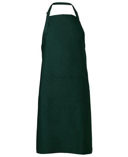 Bib Apron With Pocket - Bottle Green