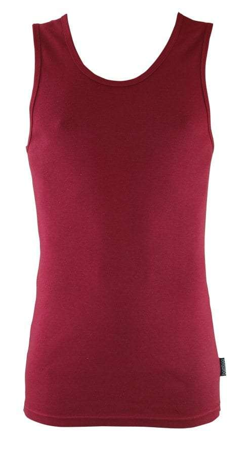 Bamboo Singlets by Bamboo Textiles - Burnt Red