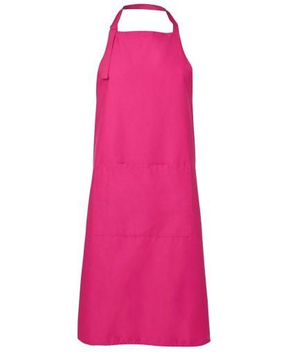 Bib Apron With Pocket - Hot Pink