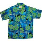 Big Island Hawaiian Shirts - Hibiscus Green