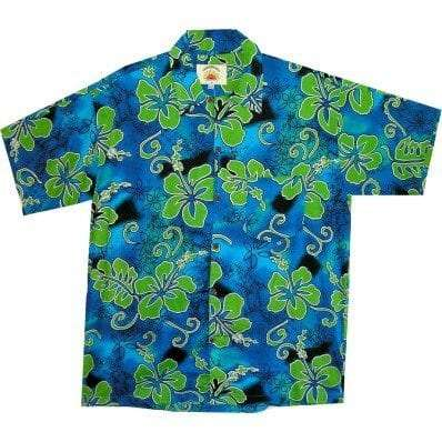 Big Island Hawaiian Shirts - Hibiscus Green