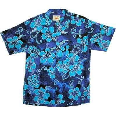 Big Island Hawaiian Shirts - Hibiscus Royal
