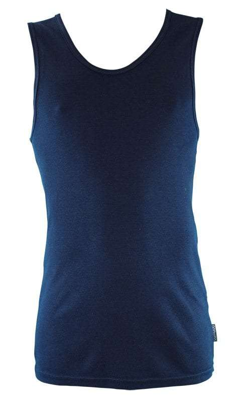 Bamboo Singlets by Bamboo Textiles - Navy
