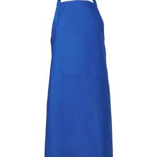 Bib Apron With Pocket - Royal