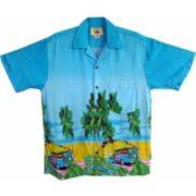 Big Island Hawaiian Shirts - Woody Blue
