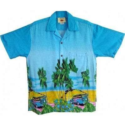 Big Island Hawaiian Shirts - Woody Blue