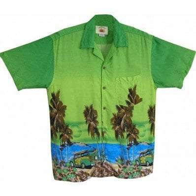 Big Island Hawaiian Shirts - Woody Green