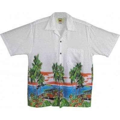 Big Island Hawaiian Shirts - Woody White