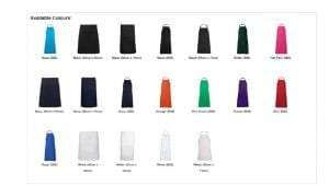 JB Aprons Colours