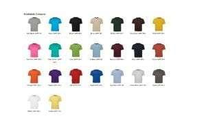 RN Tee Colours