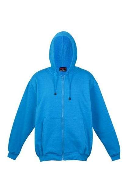 Kangaroo Pocket Hoody Full Zip Azure