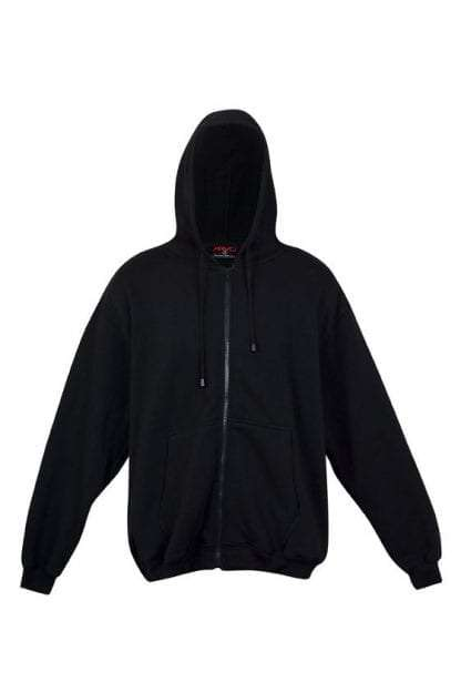 Kangaroo Pocket Hoody Full Zip Black