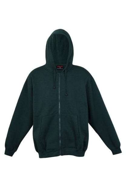 Kangaroo Pocket Hoody Full Zip Bottle_Green