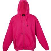 Kangaroo Pocket Hoody Full Zip Hot_Pink