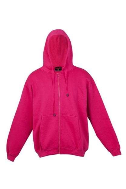 Kangaroo Pocket Hoody Full Zip Hot_Pink