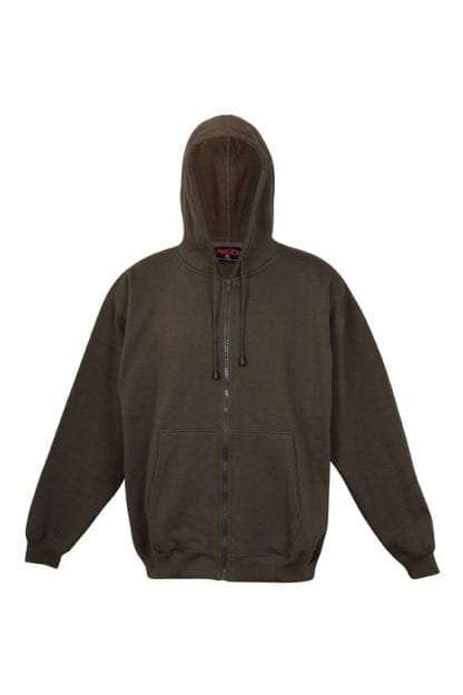 Kangaroo Pocket Hoody Full Zip Khaki