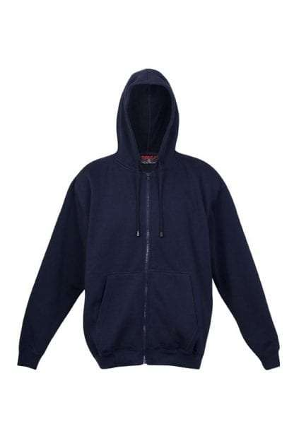 Kangaroo Pocket Hoody Full Zip Navy