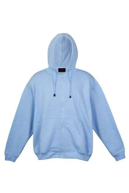 Kangaroo Pocket Hoody Full Zip Sky_Blue
