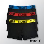 Tradie 3 Pack Fitted Trunks - Brights