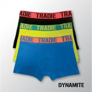 Tradie 3 Pack Fitted Trunks - Dynamite