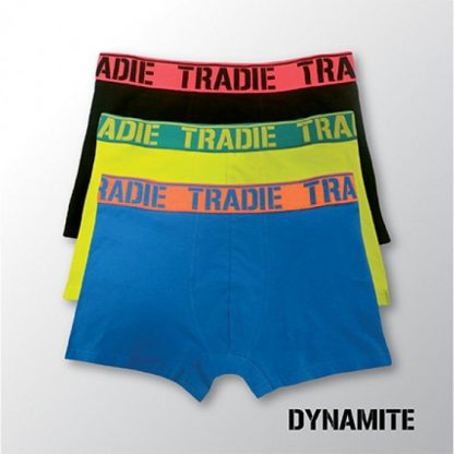 Tradie 3Pack Fitted Trunks - Dynamite