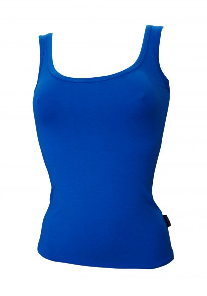 Bamboo Singlet Ladies - Blue