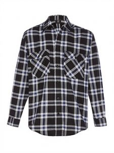 Quality Flannelette Shirt - Black 1