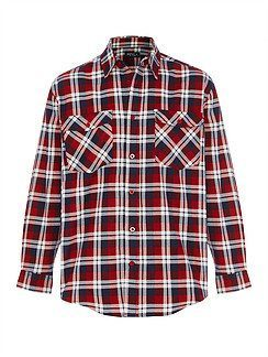 Quality Flannelette Shirt - navy