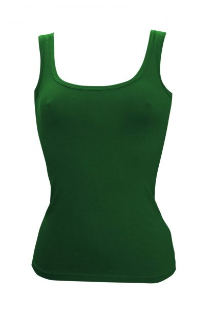 Bamboo Singlet Ladies - Green
