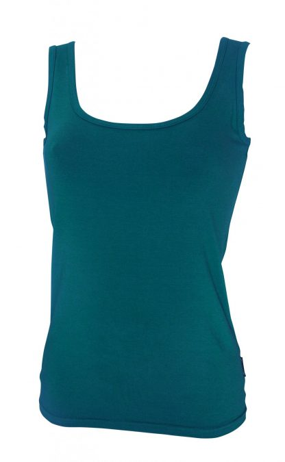 Bamboo Singlet Ladies - Teal