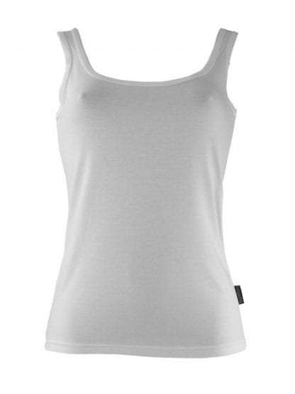 Bamboo Singlet Ladies - White
