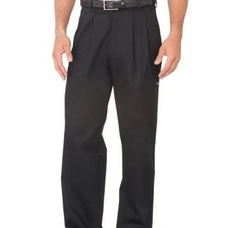 Fitted Chef Pants -Black