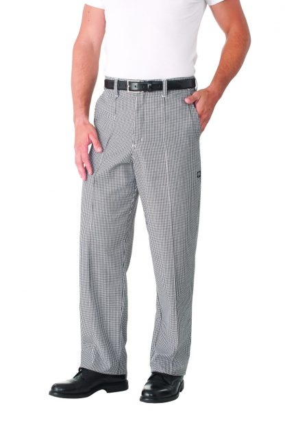 Fitted Chef Pants - Check