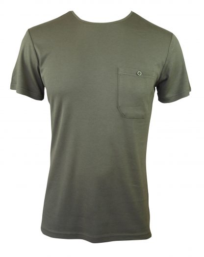 Bamboo Men's Tee - pocket - olive