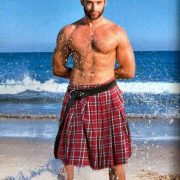 big sarong or aussie bloke kilt - hugh jackman
