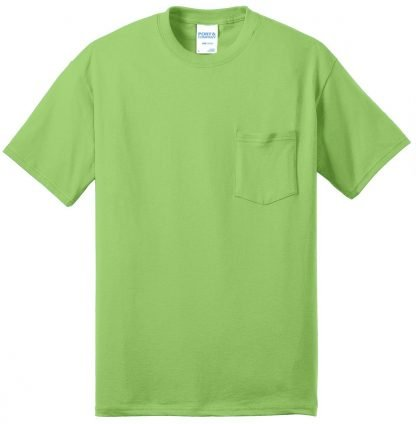 Pocket Tee to 12XL Lime