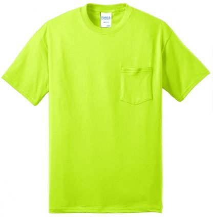 Pocket Tee to 12XL Safety Green